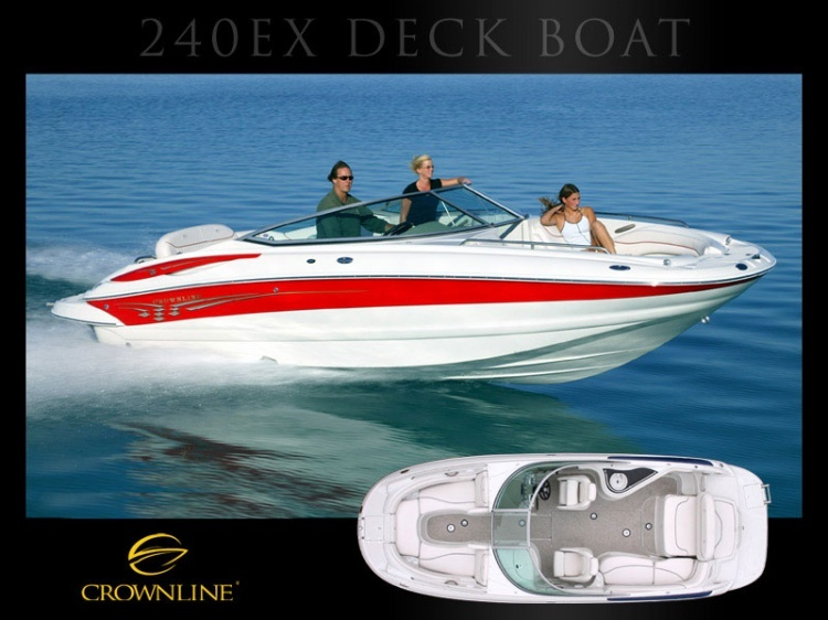 Boat 240 EX Mercruiser | Deck boats | Crownline | Models | Boats | Boats and ...